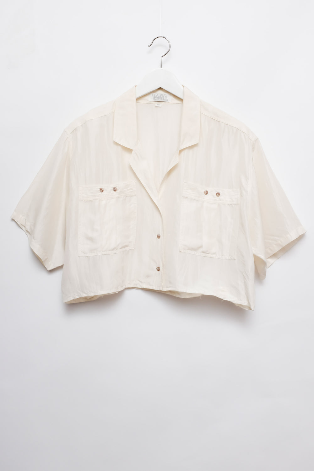 0015_SILK IVORY CROP VINTAGE SHIRT