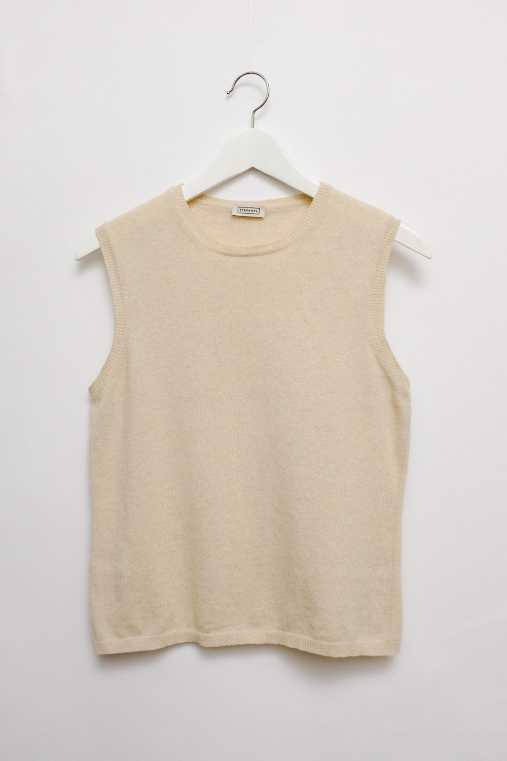 0018_STEFANEL CLEAN CREAM WOOL SLIP-OVER
