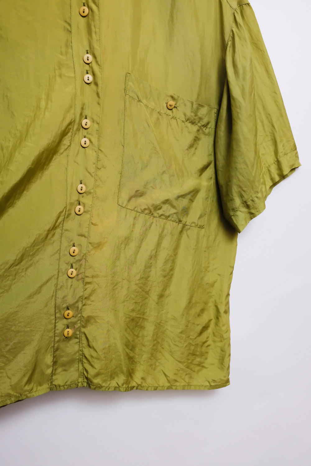 0018_SILK GREEN BLOUSE