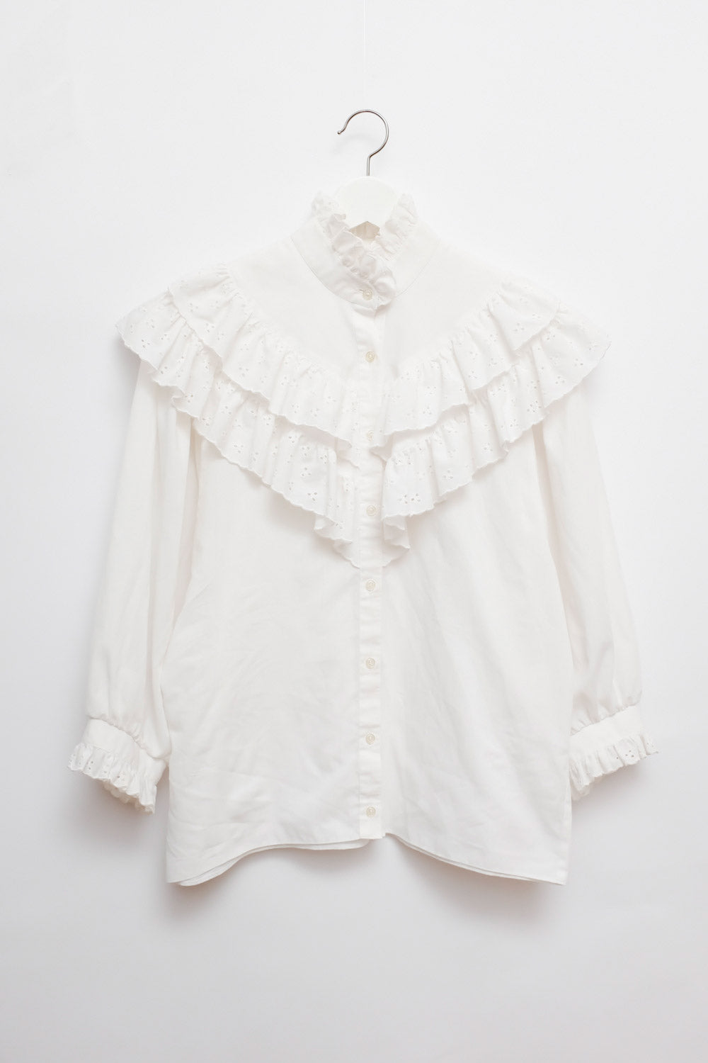 0018_VINTAGE XL-COLLAR OVERSIZE BLOUSE