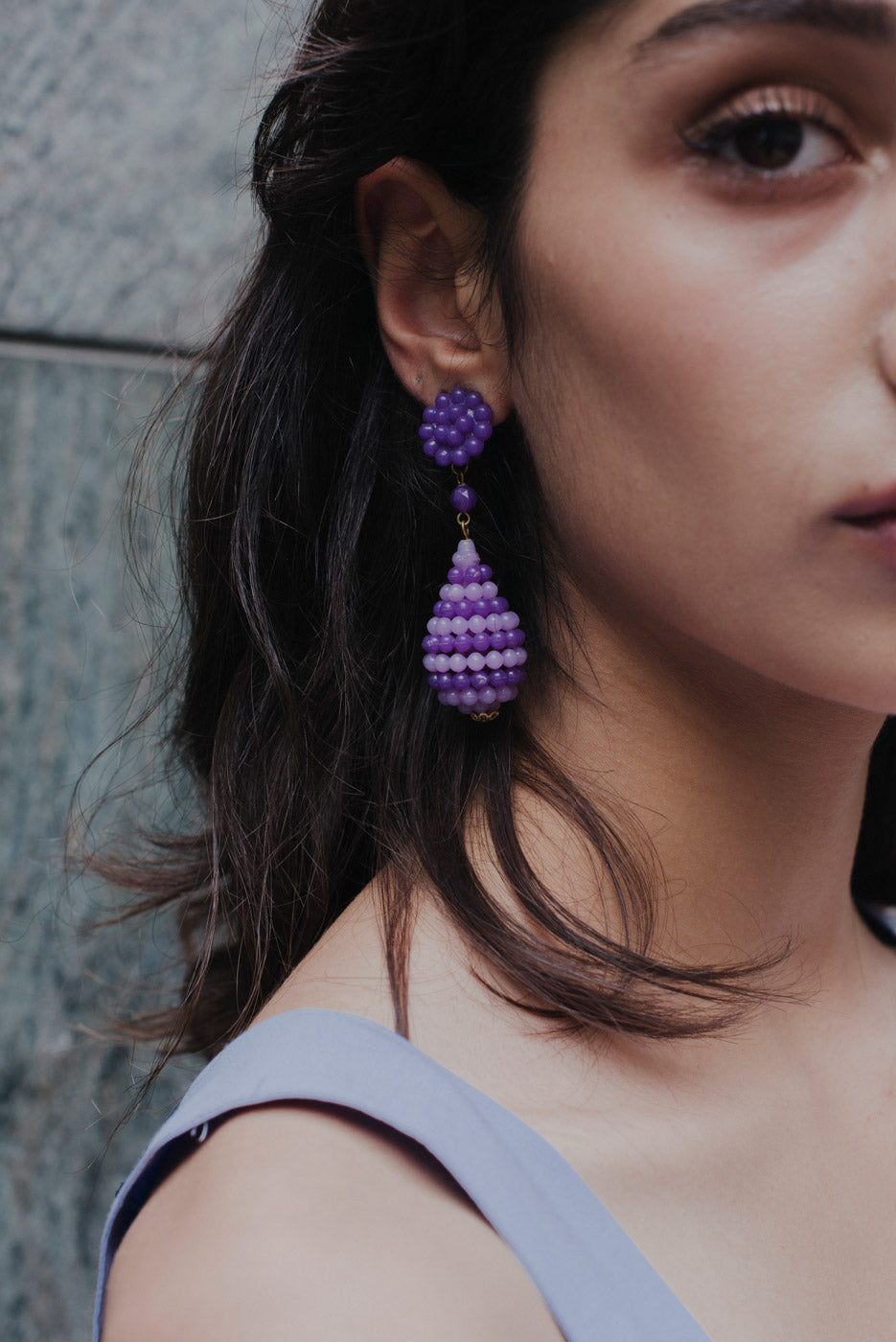 0003_VINTAGE LILAC EARRINGS