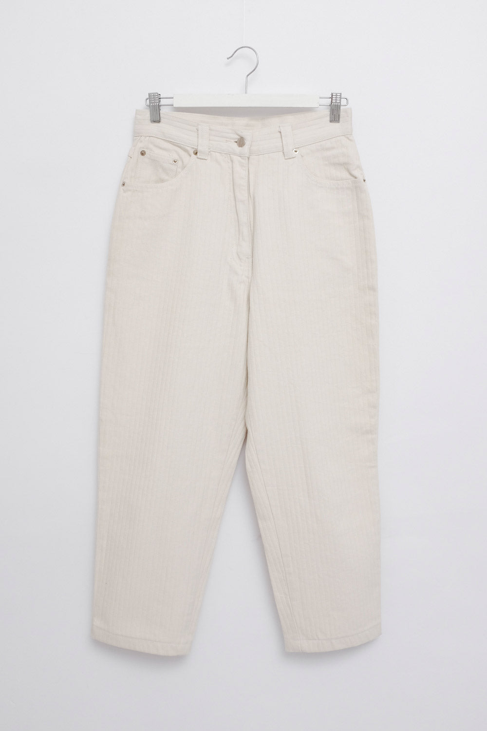 0022_RIB CREAM COTTON JEANS