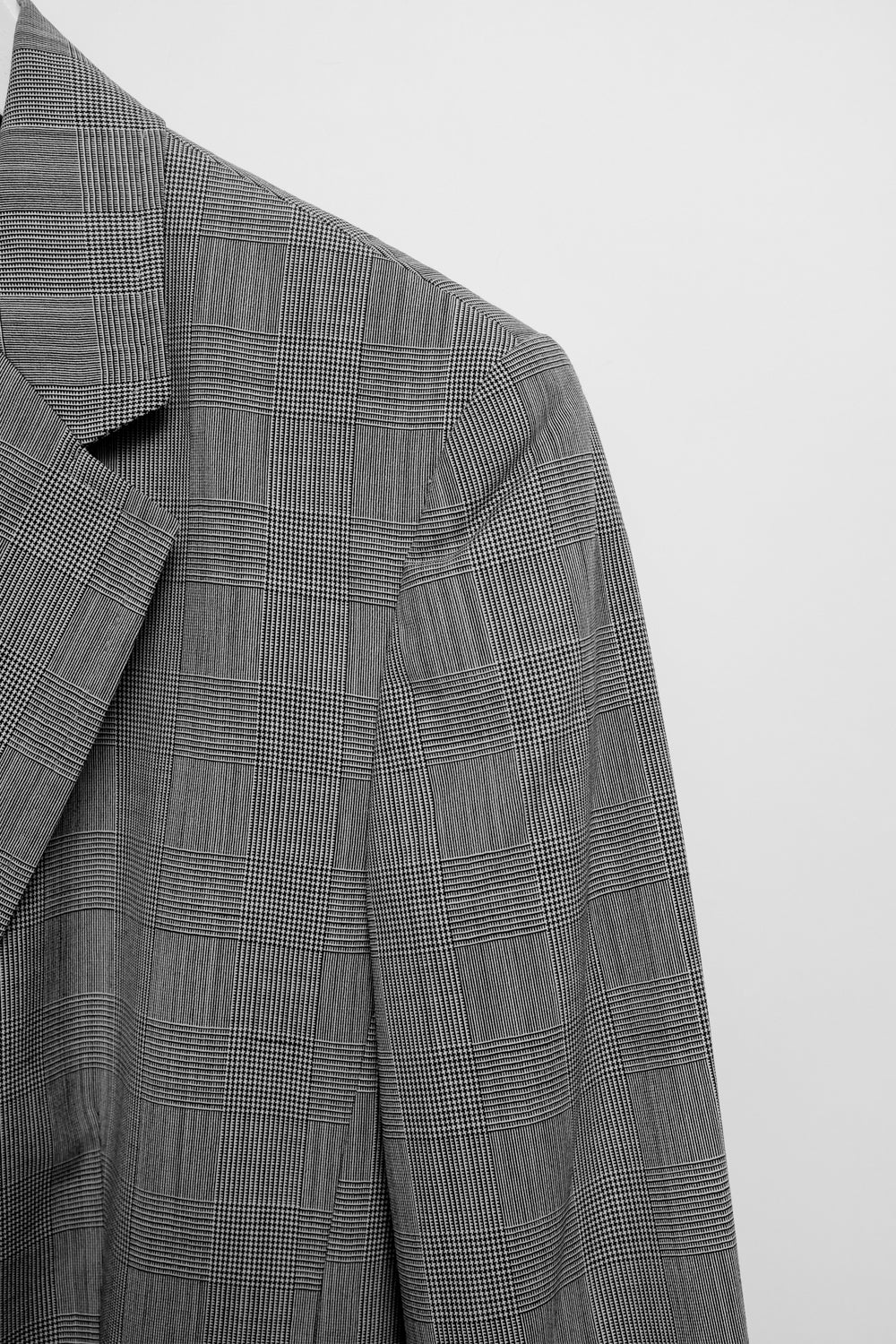 0020_CHECKED LIGHT WOOL VINTAGE SUIT