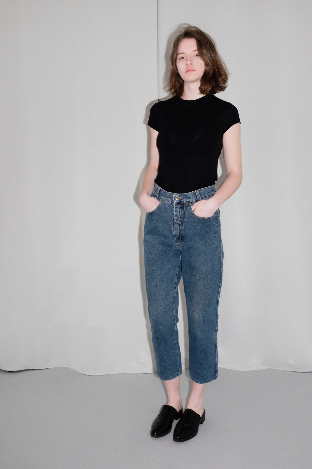 0020_AIGNER HIGH WAIST TAPERED JEANS VINTAGE