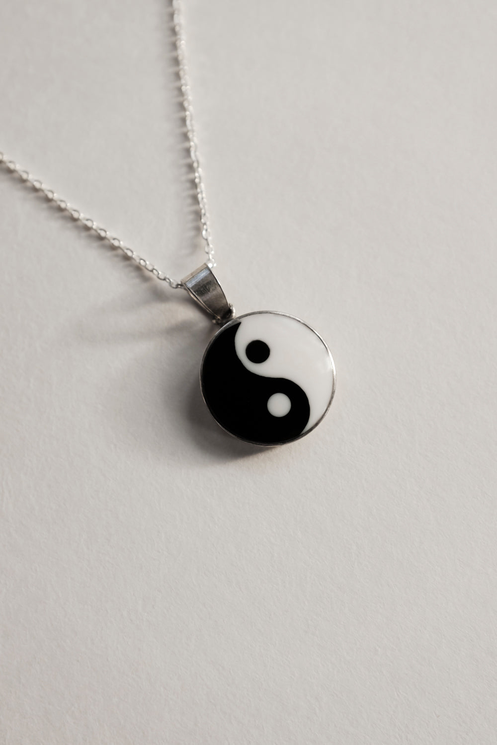 0019_YIN YANG VINTAGE MEDALLION 925 NECKLACE