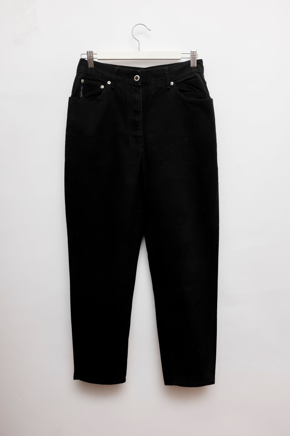 0019_BLACK HIGH WAIST CARROT JEANS