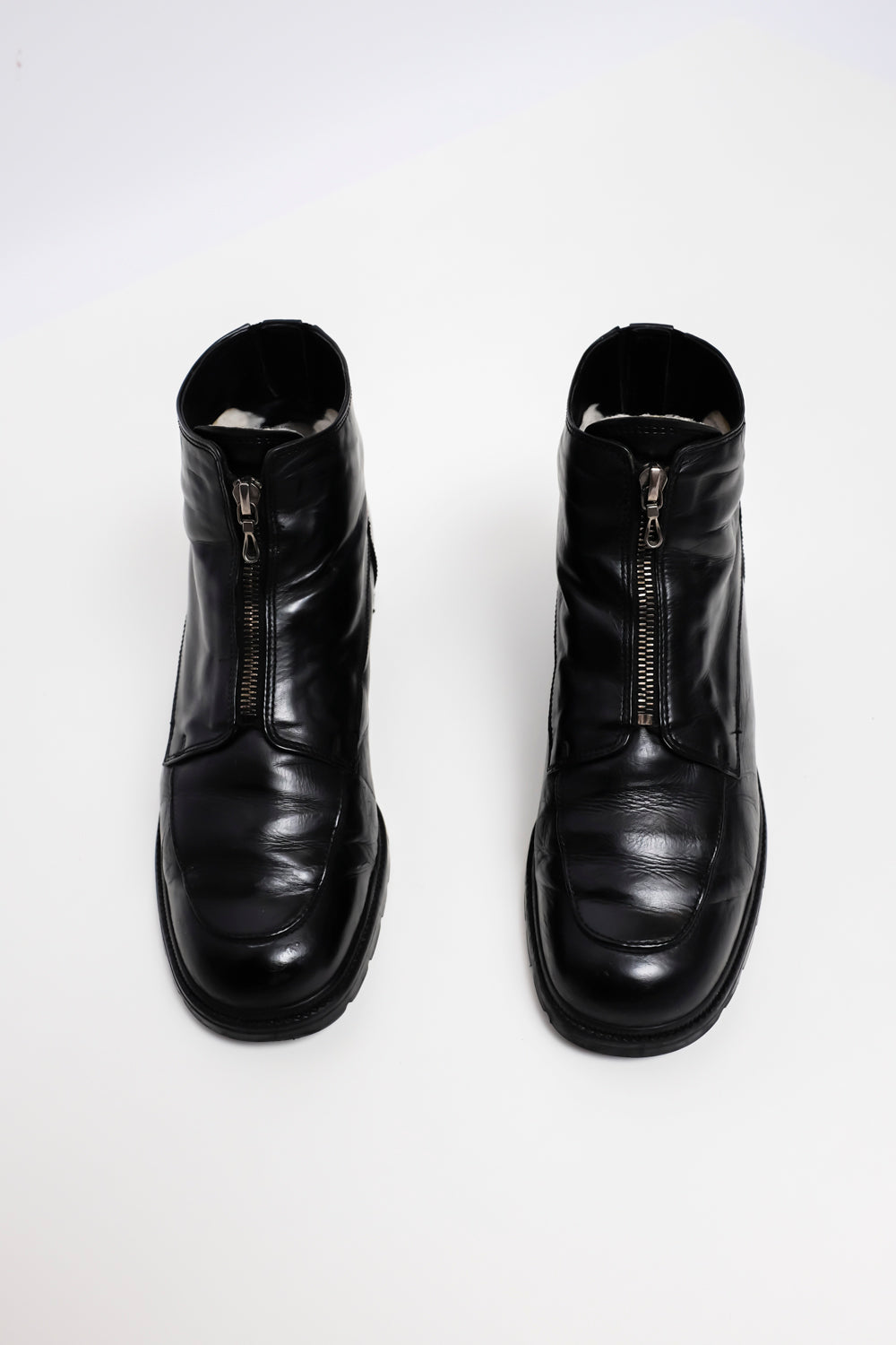0019_WARM ZIP LEATHER BOOTS 39