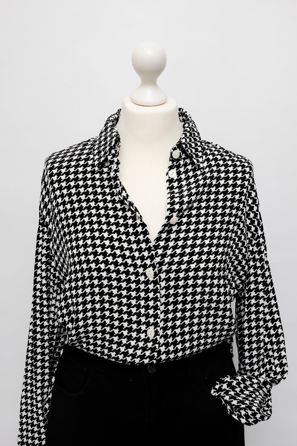 0021_HOUNDSTOOTH VISCOSE SHIRT
