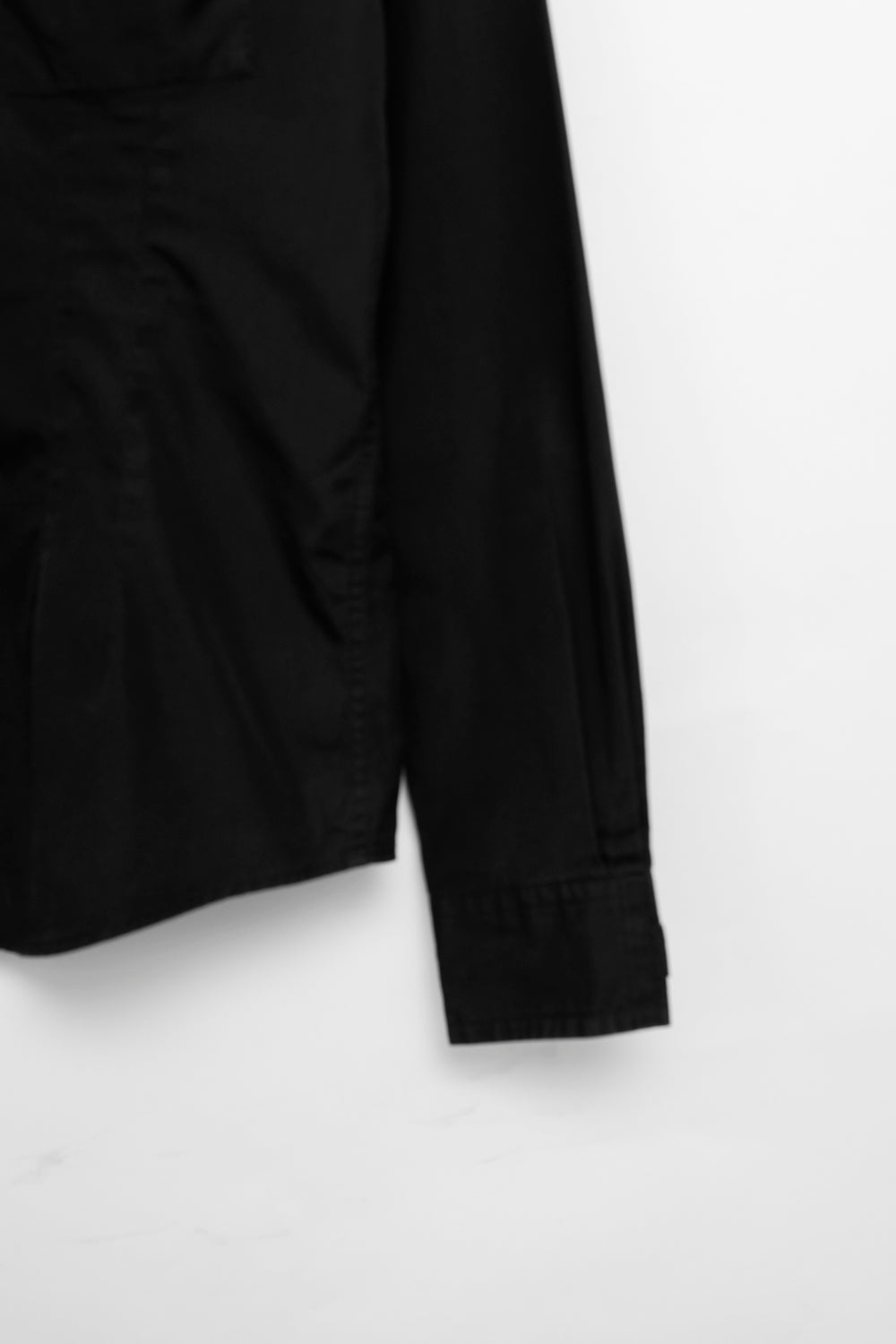 0001_ACNE BLACK SLIM COTTON BLOUSE