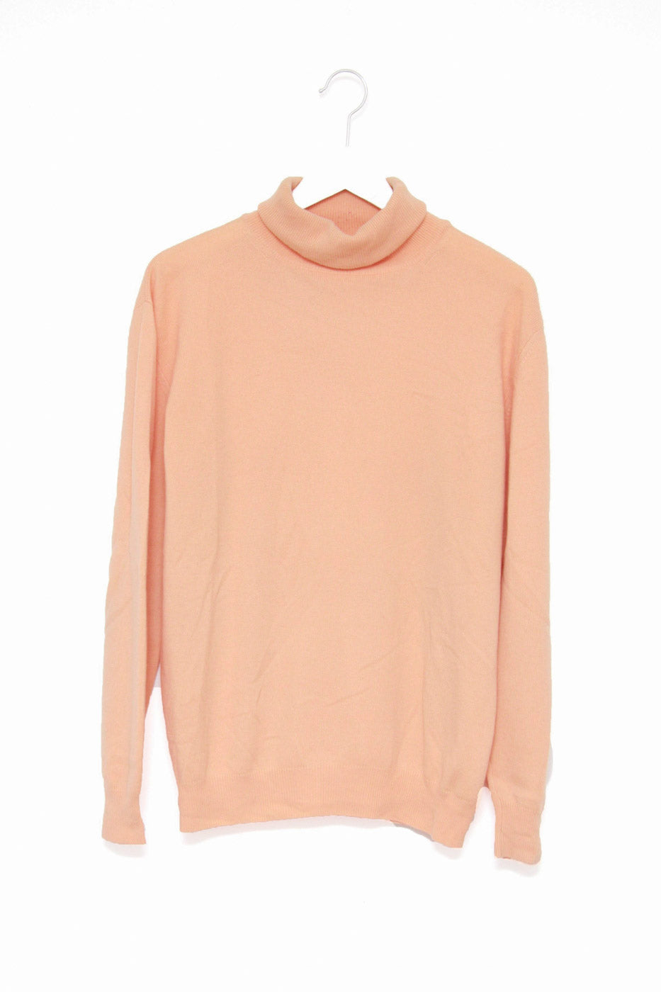 0006_SALMON CASHMERE TURTLE SWEATER