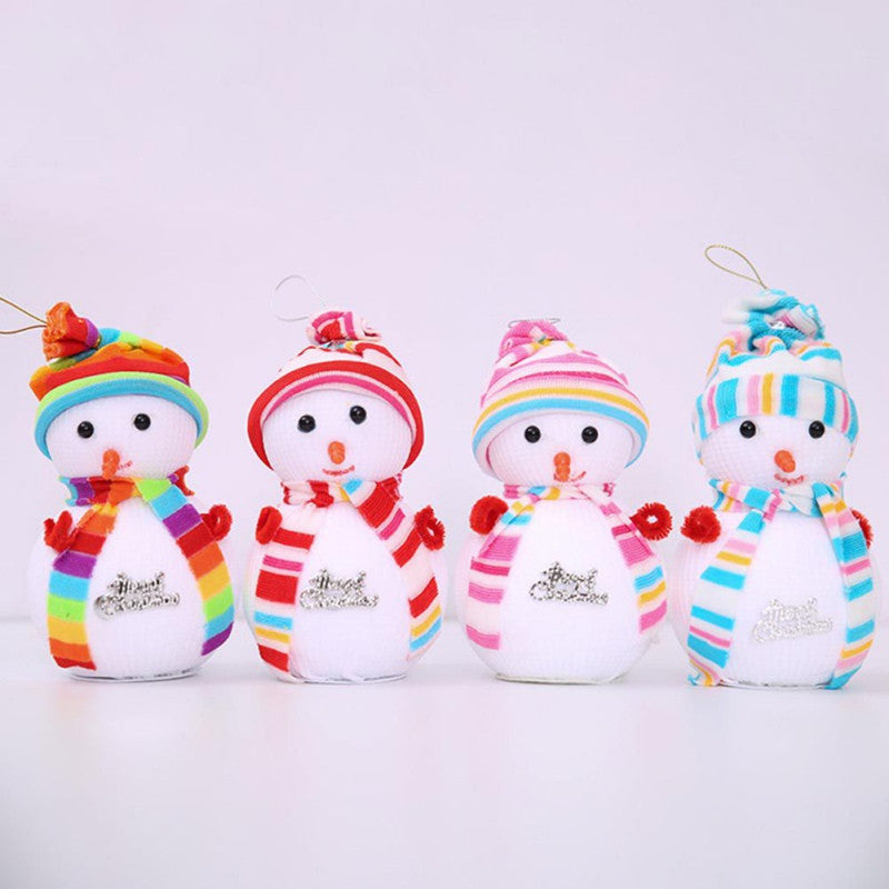 christmas ornament little doll snowman christmas bubble gift dress christmas tree hanging art party decoration