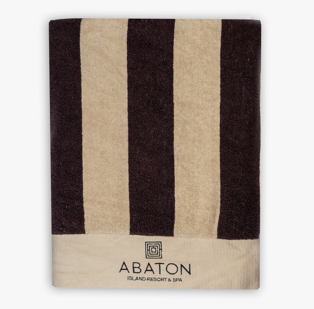 Abaton towel with stripes