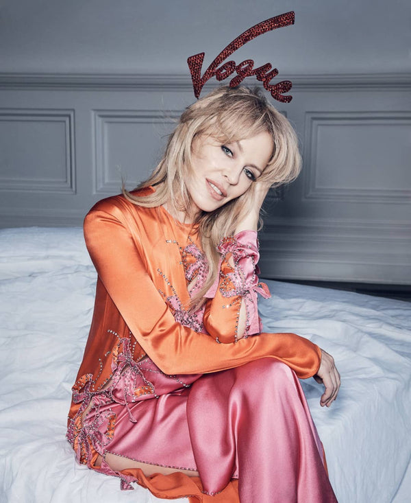 KYLIE MINOGUE IN CHRISTIE MILLINERY FOR VOGUE