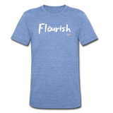 Flourish Tee - heather Blue