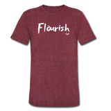 Flourish Tee - heather cranberry