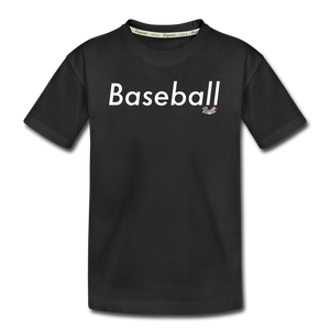 Kid's 'Baseball' Premium Organic T-Shirt - black