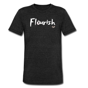 Flourish Tee - heather black