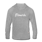 Flourish Hooded LS Tee - heather gray