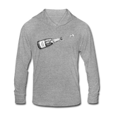 Champagne Campaign Hooded LS tee 2.0 - heather gray