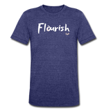 Flourish Tee - heather indigo