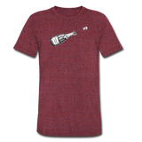 Champagne Campaign tee - heather cranberry