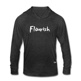 Flourish Hooded LS Tee - heather black