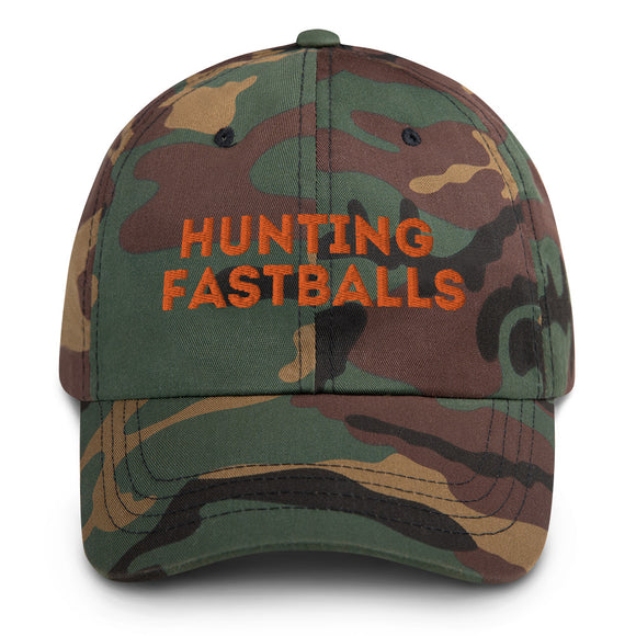 'Hunting Fastballs' Camo Dad hat