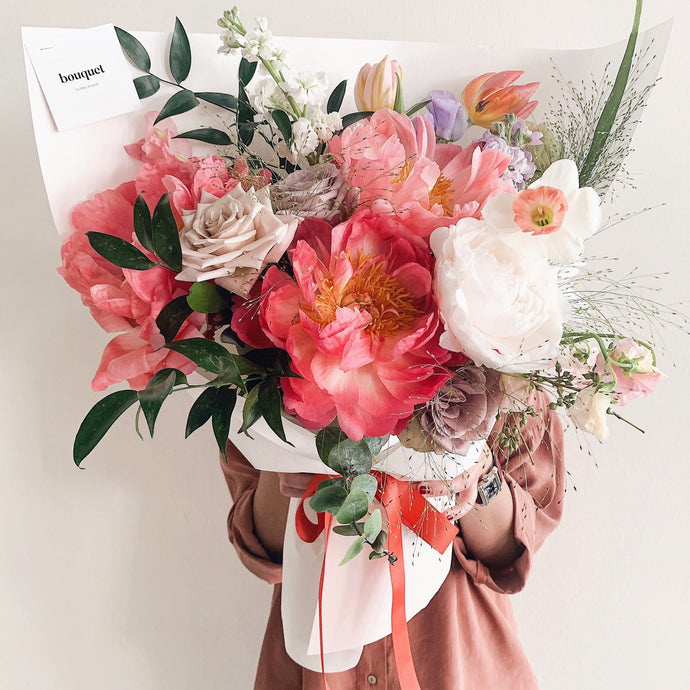 The coral charm bouquet