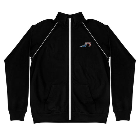 JN Logo Embroidered Piped Fleece Jacket