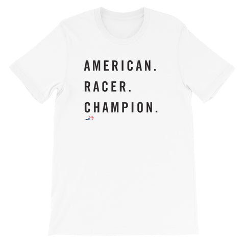American. Racer. Champion. Short-Sleeve Unisex T-Shirt