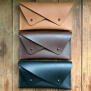Double Pocket Clutch TAN