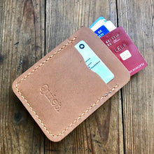 Load image into Gallery viewer, Mens Leather Money Clip Wallet