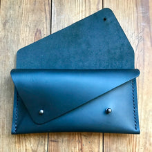 Load image into Gallery viewer, Double Pocket Clutch BLACK