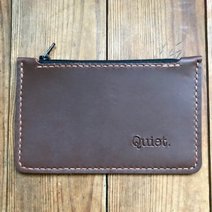 Zipper Clutch BROWN