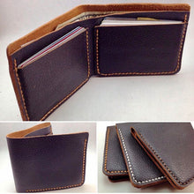 Load image into Gallery viewer, Leather Bi-fold Wallet Pattern