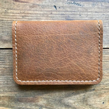 Load image into Gallery viewer, Vertical Fold Wallet WALNUT