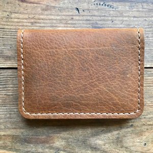 Vertical Fold Wallet WALNUT