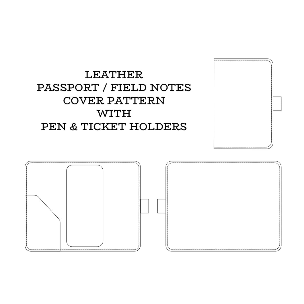 Leather Passport Cover Pattern (Field Notes Journal)