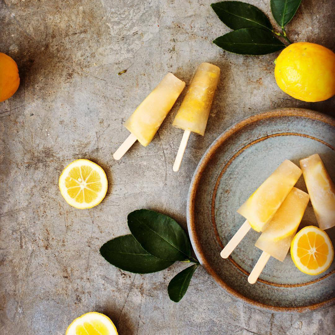 Organic Old-Fashioned Lemonade Popsicles
