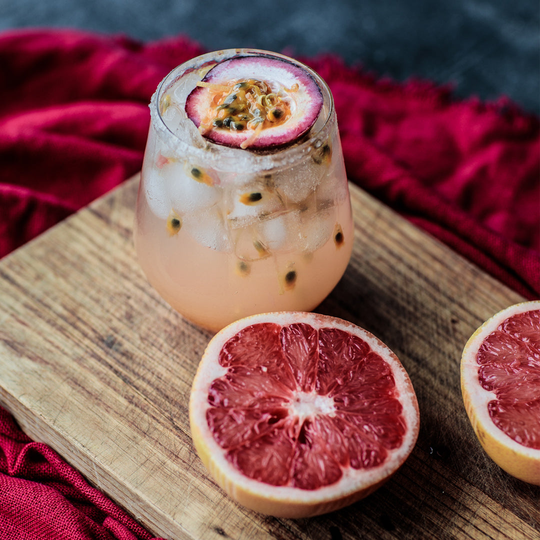Passion Fruit Mezcal Paloma