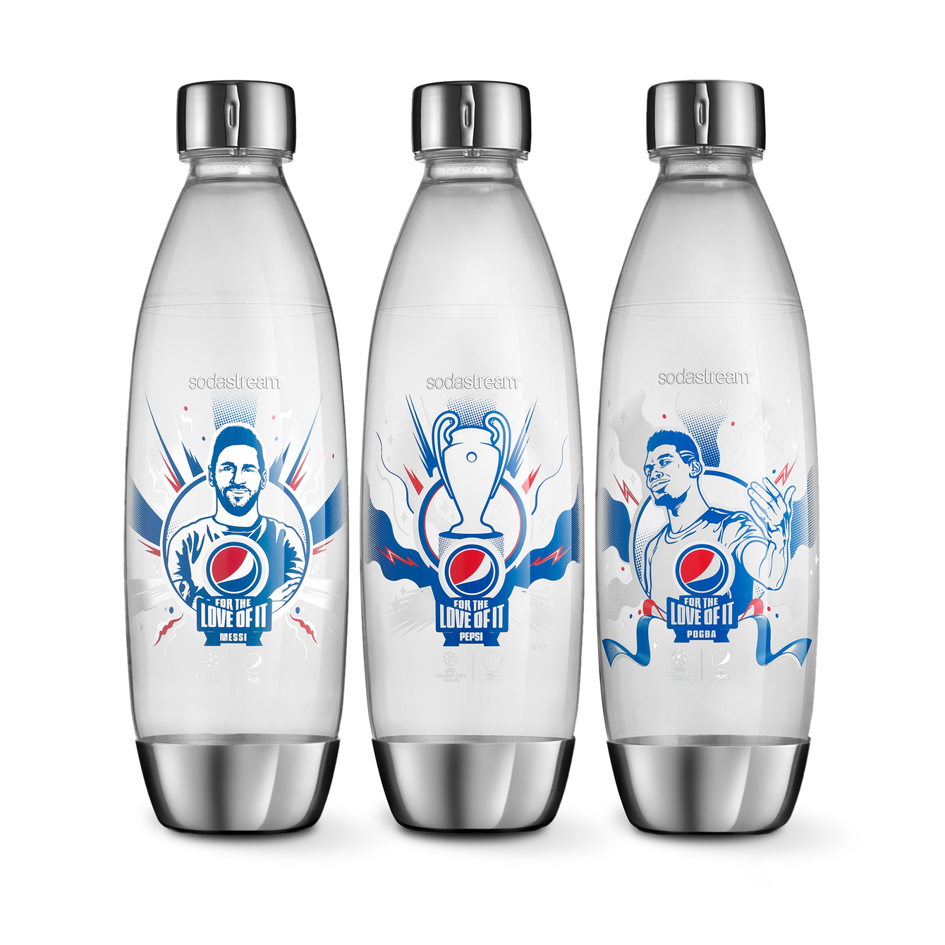sodastream 3-pack Pepsi flaskor