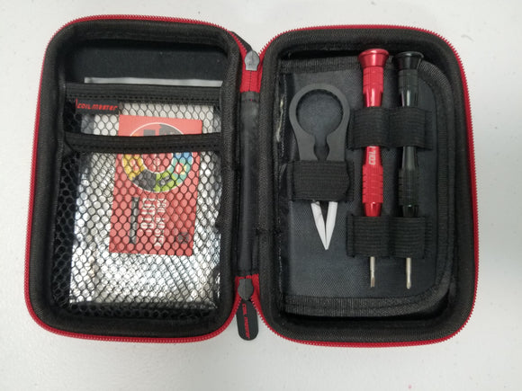 Coil Master DIY Kit Mini | CoilMaster Wholesale The CoilMaster DIY Kit Mini is 100% authentic! The exclusivity behind this kit is that it's compact and it's an outdoor-friendly building kit for all vapers alike. The tools that come with the kit are specially designed for your building vaping needs. The Coil Master DIY Kit Mini is packaged with mini diagonal pliers, folding scissors, Phillips and flat-head screwdrivers, tweezers, organic cotton and a Coiling Kit V4. Every single tool is provided fo