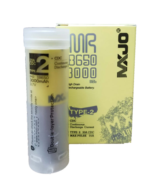 MXJO IMR 18650 (3000mAh) 35A 3.7v Battery Flat-Top