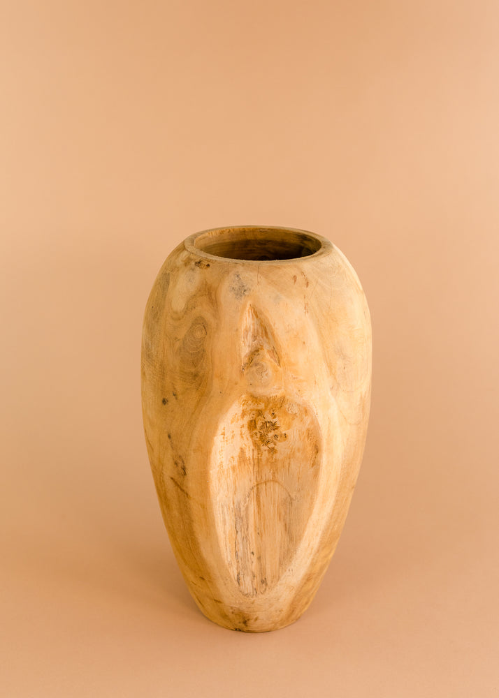 Load image into Gallery viewer, Teak Wood Vase