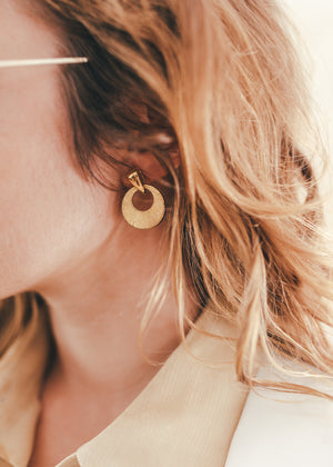 Load image into Gallery viewer, Gold Deco Earrings