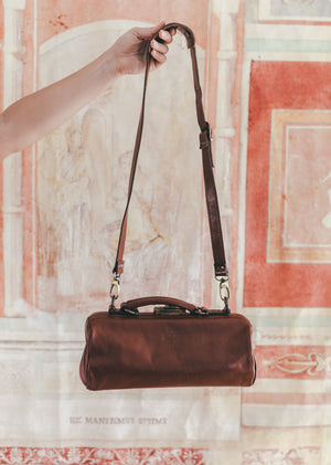 Crossbody Brown Leather Doctor's Bag