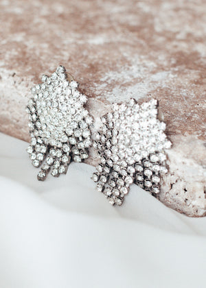 Sparkly to the Max Rhinestone Statement Earrings