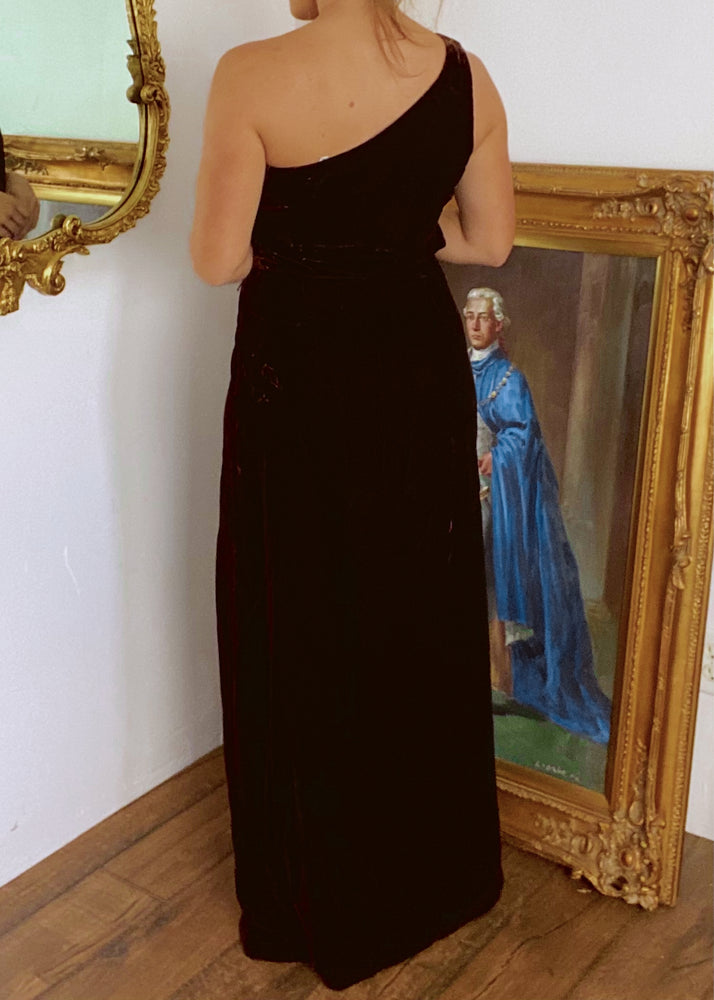 Chocolate Velvet Black Tie Gown