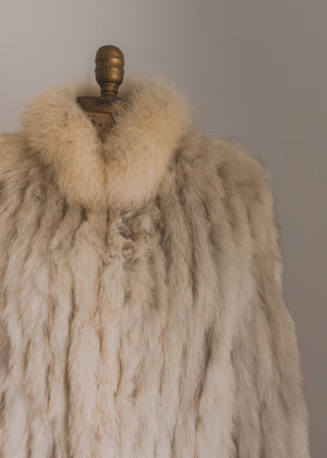 Creamy Mink Fur Coat