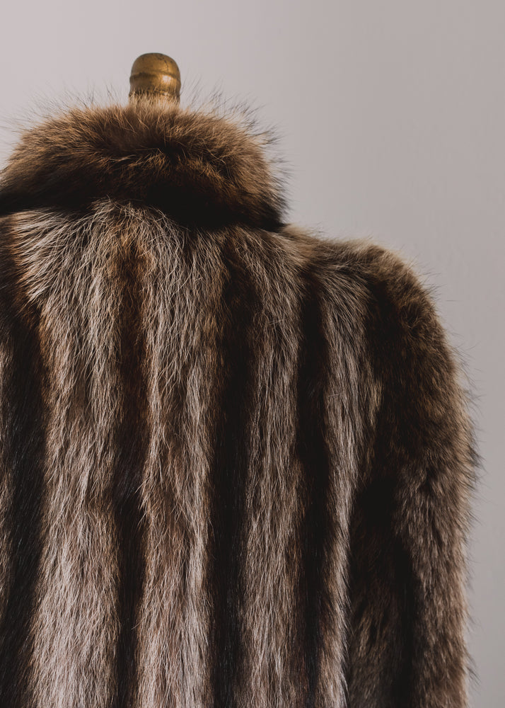 Floor Length Raccoon Fur Coat